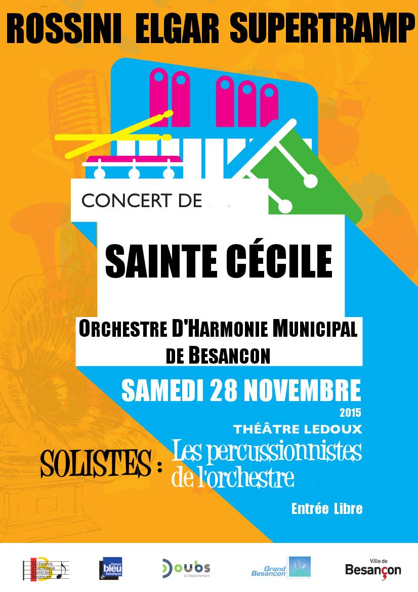 Concert sainte Cecile 2015